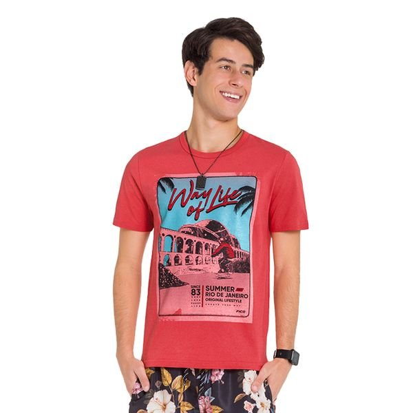 camiseta juvenil masculina life laranja fico 48409 1