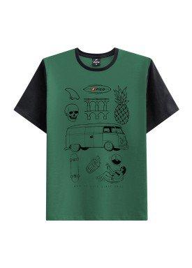camiseta juvenil masculina life verde fico 48413