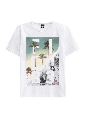 camiseta juvenil masculina skate branco fico 48408