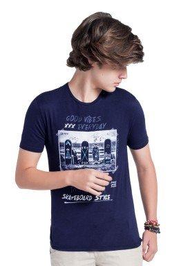camiseta juvenil masculina skateboard marinho fico 38275 1