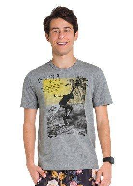 camiseta juvenil masculina skater mescla fico 48407 1