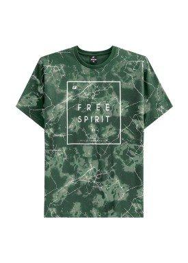 camiseta juvenil masculina spirit verde fico 48402