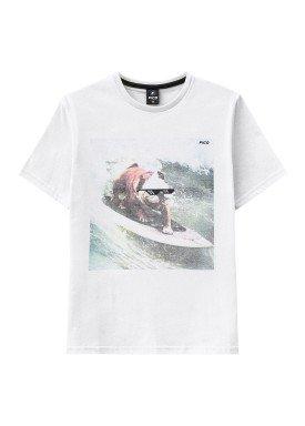 camiseta juvenil masculina surf branco fico 38280