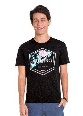 camiseta juvenil masculina surfing preto fico 48419 1