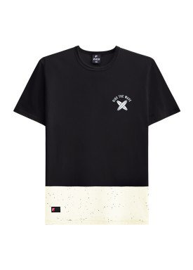 camiseta juvenil masculina wave preto fico 48415