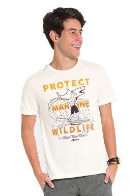 camiseta juvenil masculina wildlife offwhite fico 48420 1
