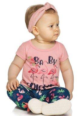 conjunto bebe feminino friends rosa elian 21999 1