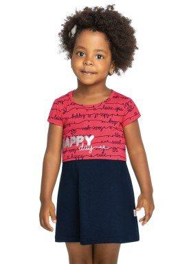 vestido infantil feminino happy marinho elian 231347 1