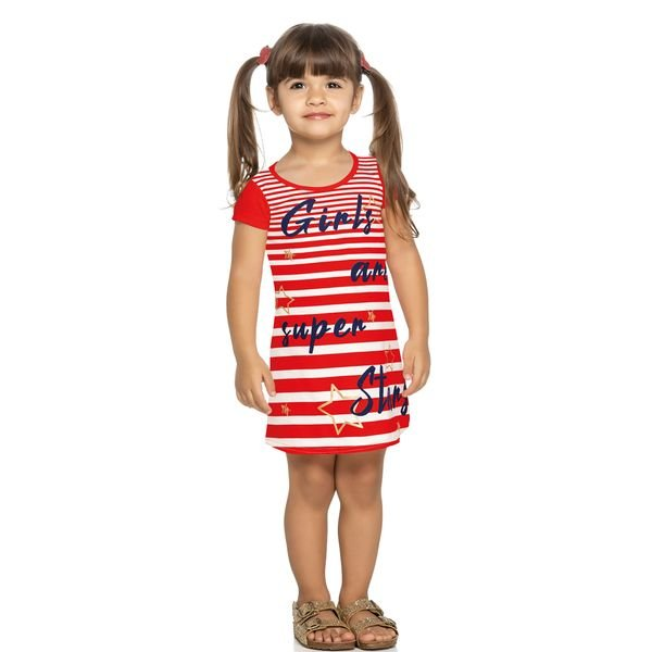 vestido infantil feminino superstars natural elian 231352 3