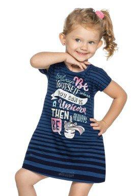 vestido infantil feminino unicorn marinho elian 231340 1