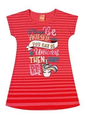 vestido infantil feminino unicorn vermelho elian 231340