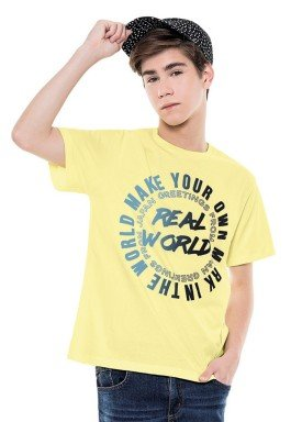 camiseta juvenil masculina real world amarelo fakini 2859 1