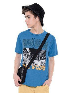 camiseta juvenil masculina real world azul fakini 2860 1