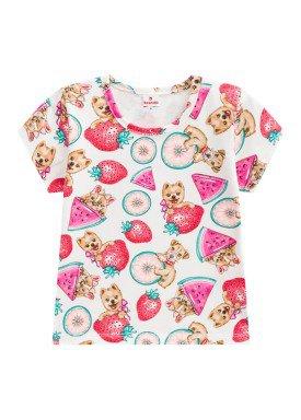 blusa infantil feminina frutas natural brandili 24468