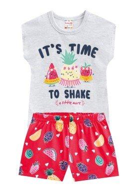 conjunto infantil feminino shake mescla brandili 24206