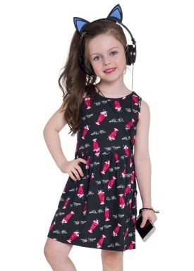 vestido infantil feminino cute preto brandili 24210 1