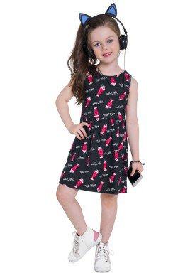 vestido infantil feminino cute preto brandili 24210 3