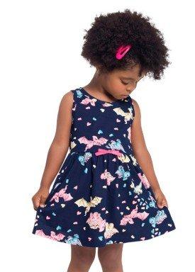 vestido infantil feminino dinos marinho brandili 24518 1