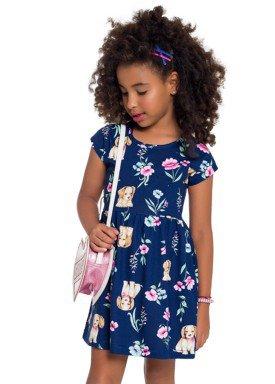 vestido infantil feminino dogs marinho brandili 24521 1