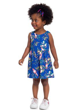 vestido infantil feminino nature azul brandili 24398 3