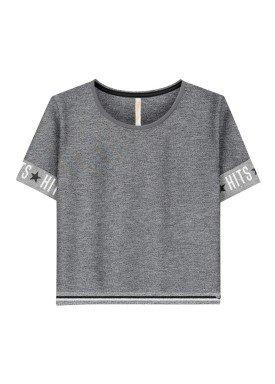 blusa juvenil feminina brilho mescla lunender hits 36029