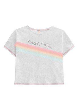 blusa juvenil feminina colorful mescla lunender hits 46947