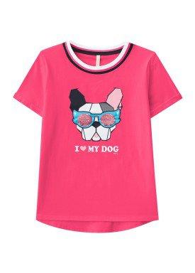 blusa juvenil feminina dog rosa lunender hits 36030