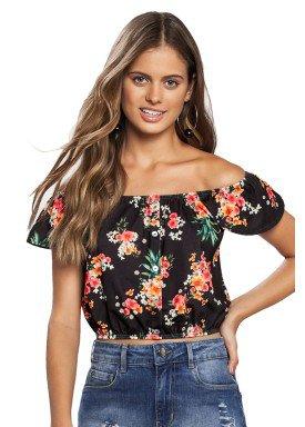 blusa juvenil feminina floral preto lunender hits 46932 1