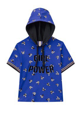 blusa juvenil feminina girl power azul lunender hits 36041 1