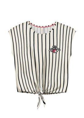 blusa juvenil feminina listrada offwhite lunender hits 36032