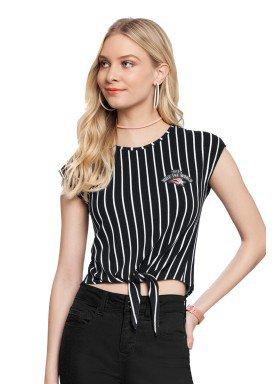 blusa juvenil feminina listrada preto lunender hits 36032 1