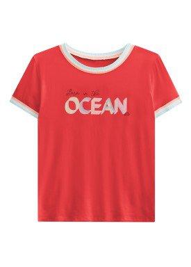 blusa juvenil feminina ocean laranja lunender hits 46938