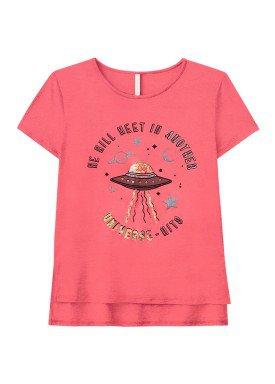 blusa juvenil feminina universe rosa lunender hits 36039