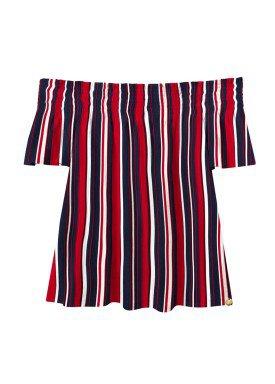 blusa juvenil feminina vermelho lunender hits 36035