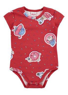 body bebe feminino doces vermelho alenice 41017