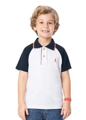 camisa polo infantil masculina baseball branco alenice 47023 1