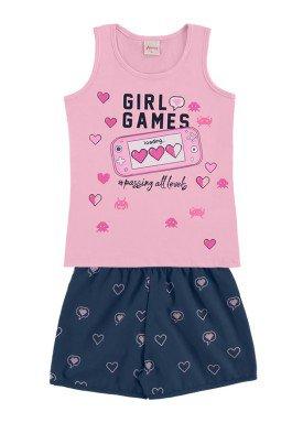 conjunto infantil feminino games rosa alenice 47035 1