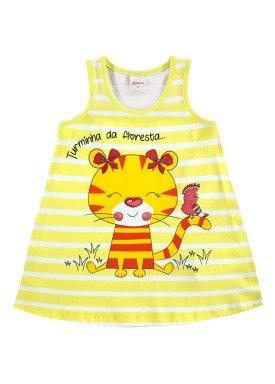vestido bebe feminino floresta amarelo alenice 41022