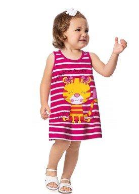 vestido bebe feminino floresta rosa alenice 41022 3
