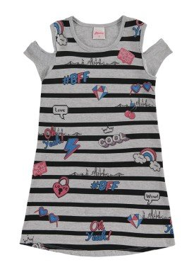 vestido infantil feminino cool mescla alenice 47034