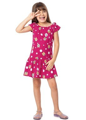 vestido infantil feminino hello rosa alenice 47044 3