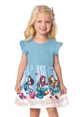 vestido infantil feminino sereias azul alenice 44364 1