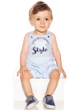 macacao banho de sol bebe menino listrado azul paraiso 9522 1