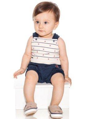 macacao banho de sol bebe menino nautical marinho paraiso 9726 1