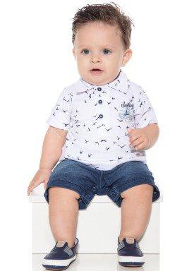 macacao meia manga bebe menino gaivotas branco paraiso 10032 1