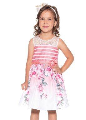 vestido infantil feminino estampado coral paraiso 9968 1
