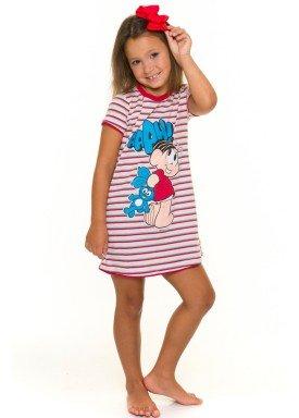 camisola infantil feminina turma da monica rosa evanilda 55040003