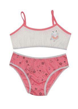 conjunto top calcinha infantil feminino bailarina rosa evanilda 22010027