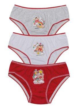 kit calcinha 3pc s infantil feminina turma da monica evanilda 01040065