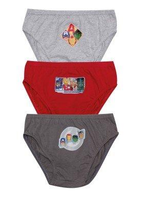 kit cueca 3pc s infantil masculina vingadores evanilda 02050068